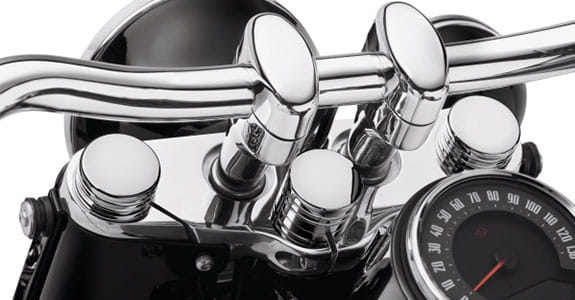 Chrome motorcycle handlebars